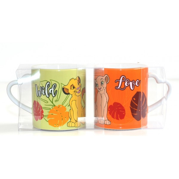 Disney Simba and Nala Couple Mug Set, Disneyland Paris