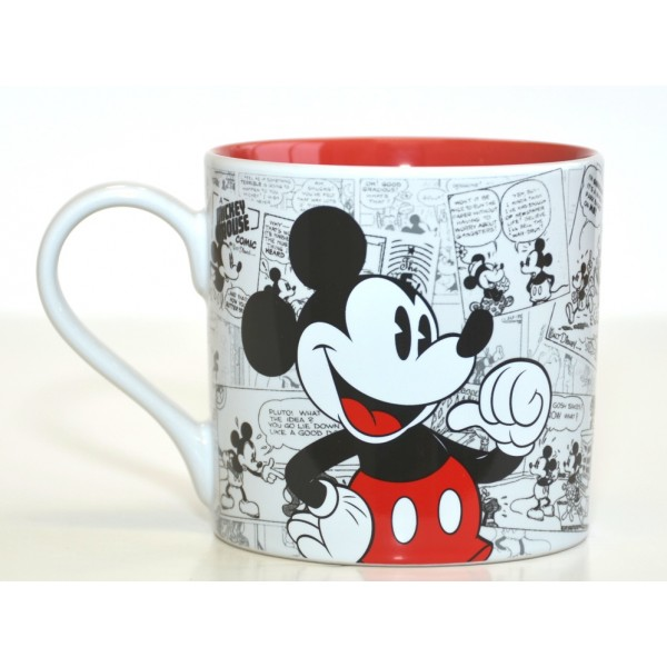 Mickey Mouse Comic-Style Print Mug with Letter G