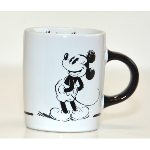 Mickey Mouse Comic Black and White espresso cup, Disneyland Paris