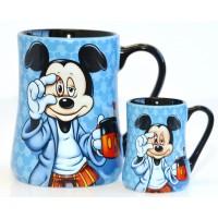 Mickey Mouse Mornings Mug and espresso cup Set, Disneyland Paris