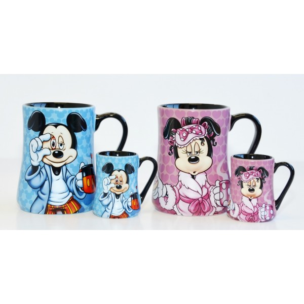 Mickey and Minnie Mouse Mornings Mug and espresso cup Set, Disneyland Paris