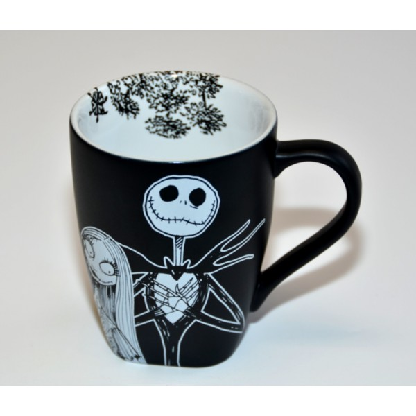 Mr.Jack Skellington and Sally Black and White Mug