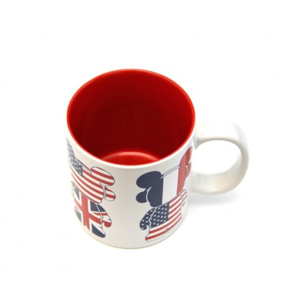 Disneyland Paris Mickey Mouse Flag Vinylmation mug