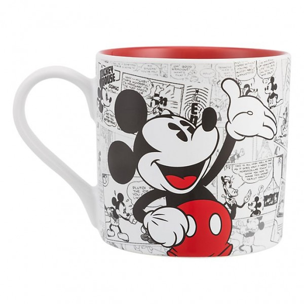 Mickey Mouse Comic-Style Print Mug with Letter H