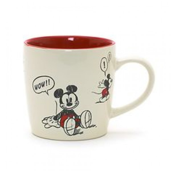 Mickey Mouse Comic Strip Small Glass