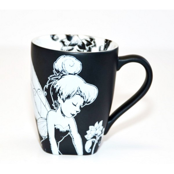 Tinker Bell Black and White baroque Mug, Disneyland Paris
