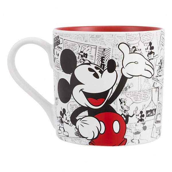 Mickey Mouse Comic-Style Print Mug with Letter E