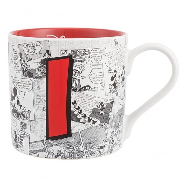 Mickey Mouse Comic-Style Print Mug with Letter I