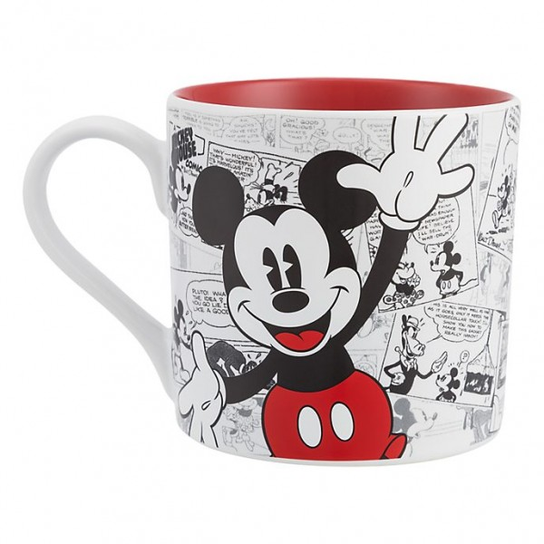 Mickey Mouse Comic-Style Print Mug with Letter X