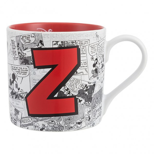 Mickey Mouse Comic-Style Print Mug with Letter Z