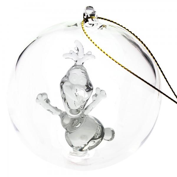 Disney Olaf Christmas bauble, Arribas Glass Collection