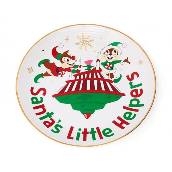 Chip 'n' Dale Holiday Cheer Dessert Plate, Disney