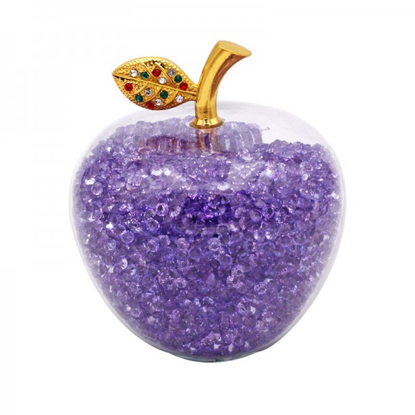 Disney Snow White Apple with violet Crystals, Arribas Glass Collection