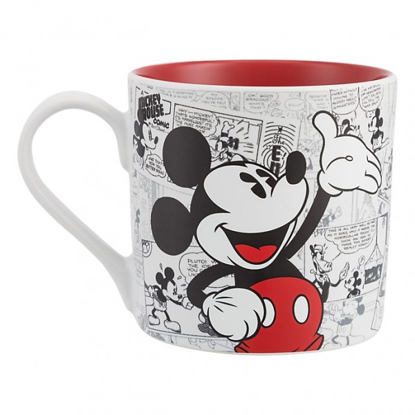 Mickey Mouse Comic-Style Print Mug with Letter Q