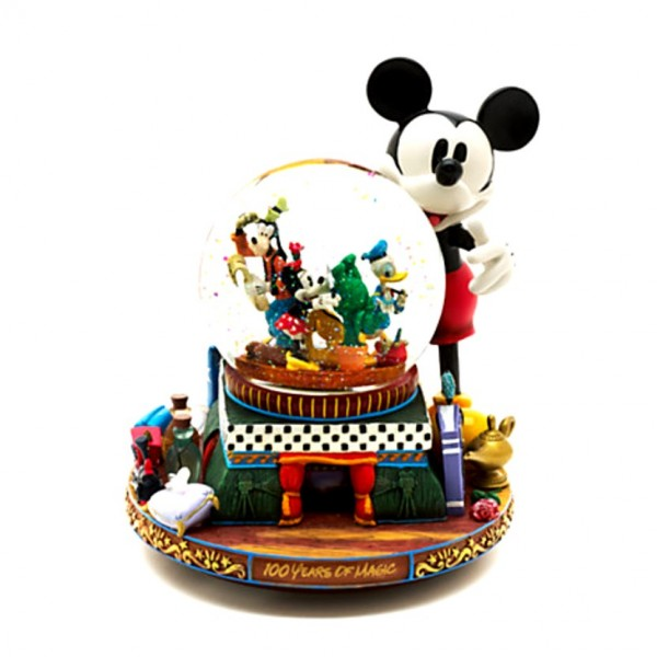 Mickey and Friends Deluxe Musical Snow Globe, Disneyland Paris Original