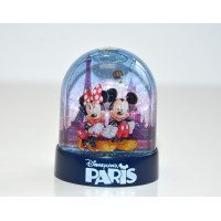 Disneyland Paris Mickey and Minnie Plastic Snow Globe