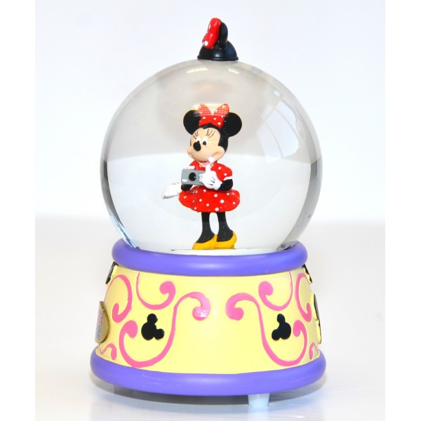 Disneyland Paris Minnie Mouse Musical Snow Globe
