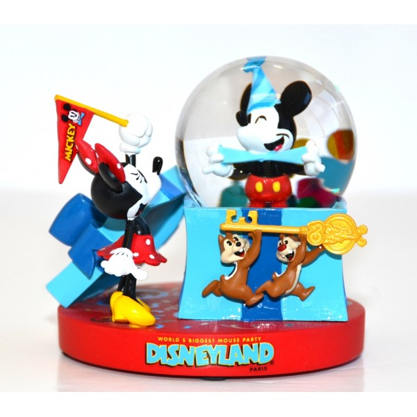 Mickey Mouse Biggest Mouse Party Disneyland Paris Snow Globe