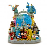 Disneyland Paris Castle Deluxe Musical Snow Globe