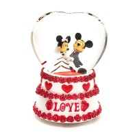 Disneyland Paris Mickey and Minnie Mouse Wedding Snow Globe