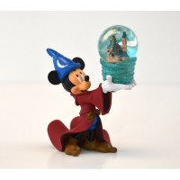 Mickey Mouse and Cinderella Castle Snow Globe
