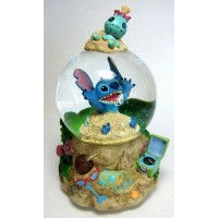 Disney Snow Globe - Stitch - Trog on The Beach