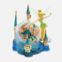 Tinker Bell and Cinderella Castle Snow Globe