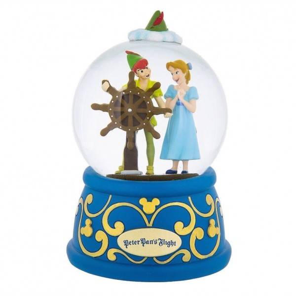 Disney Peter Pan's Flight with Wendy Musical Snow Globe