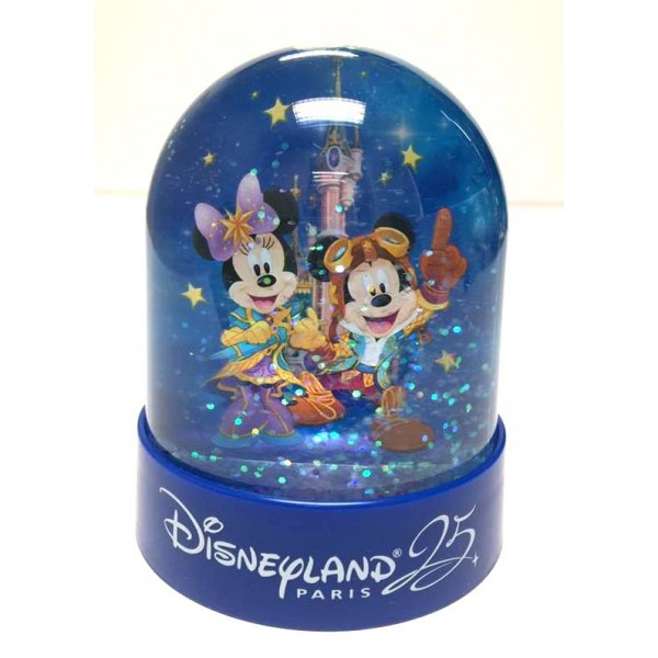 Disneyland Paris 25 Anniversary Mini Snow Globe
