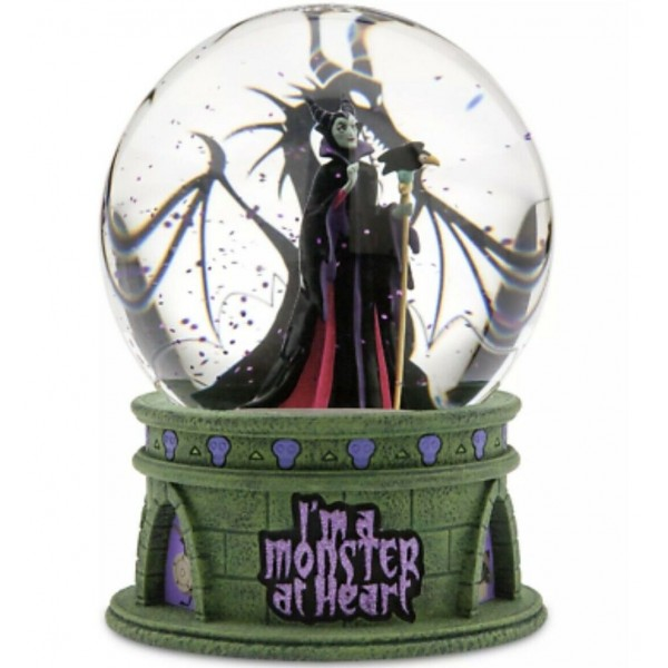 Disney Maleficent I'm A Monster At Heart Light Up Snow globe, Disneyland Paris