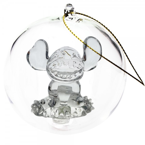 Disney Stitch Christmas bauble, Arribas Glass Collection