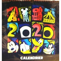 Disney 2020 Wall Calendar, Disneyland Paris
