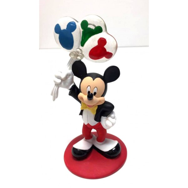 Mickey Mouse with Balloons Photo Picture Figurine Clip Frame