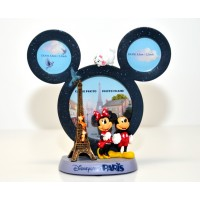 Mickey and Minnie in Paris Figurine Photo Frame