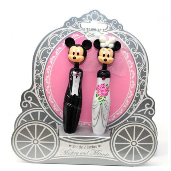 Disney Mickey & Minnie 3D Wedding Pens Set