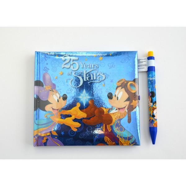 Disneyland Paris 25 Years of Stars Autograph Book and Pen