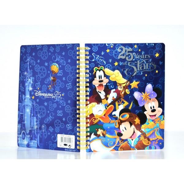 Disneyland Paris 25 years of Stars Notebook