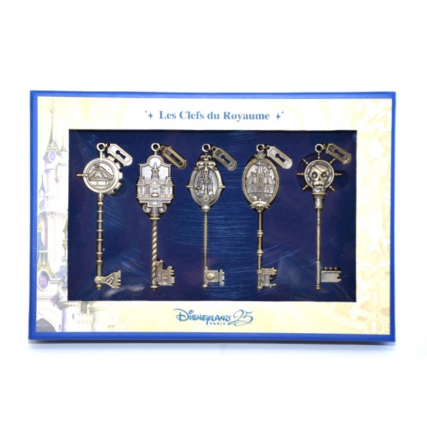 Disneyland Paris 25th Anniversary kingdom keys Limited Edition Set - Gold Colour