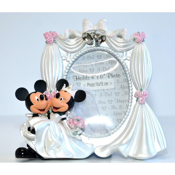 Disney Mickey and Minnie Sculpted Wedding Photo Frame