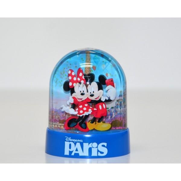 Mickey Minnie and Friends Disneyland Paris Mini Snow Globe