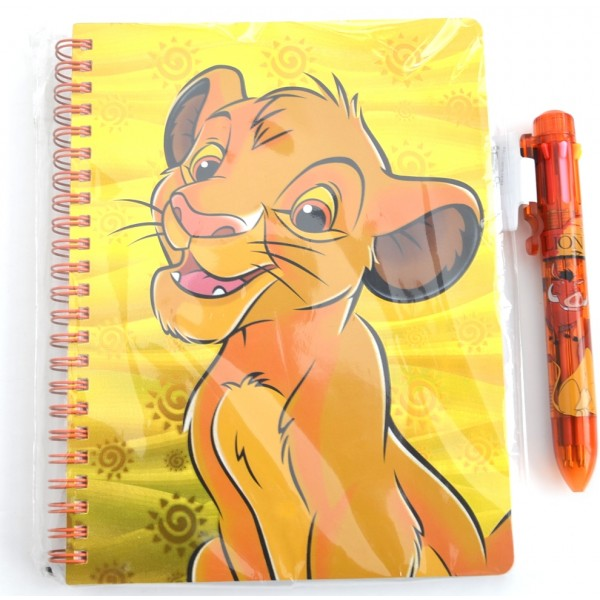Simba Journal Notebook and Multicolour pen set, Disneyland Paris