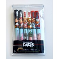 Disneyland Paris ballpoint pens,Set of 6