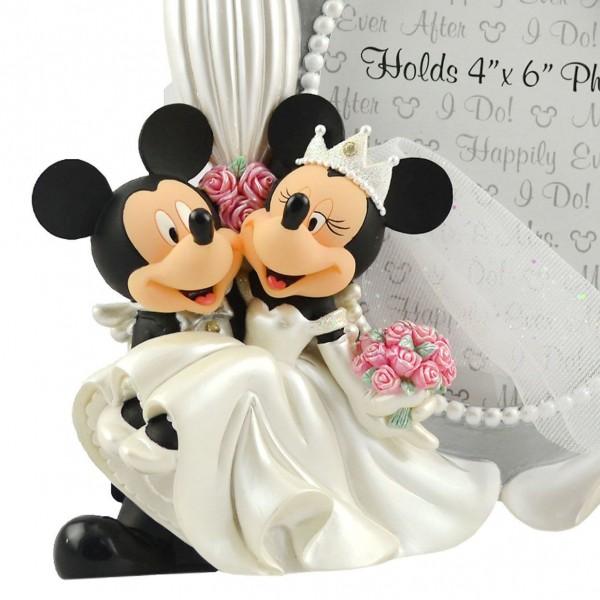 Disney Mickey And Minnie Sculpted Wedding Photo Frame
