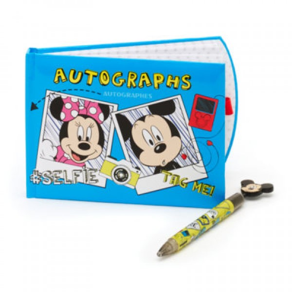 Disney Mickey and Minnie Mouse Autograph Book and Pen