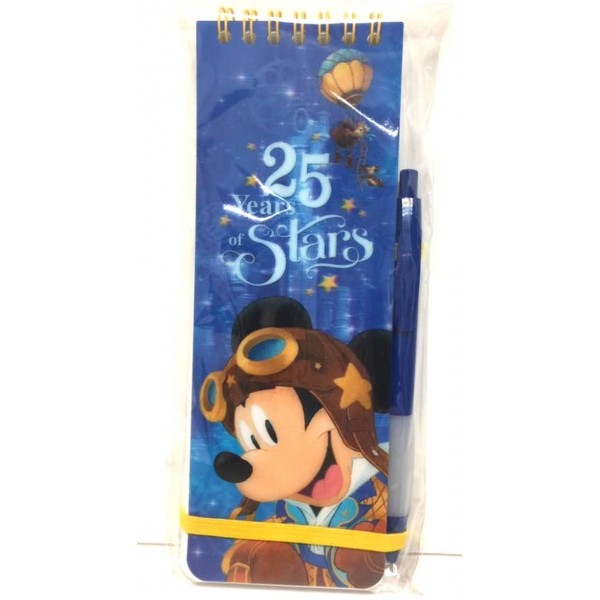 Disneyland Paris 25 Anniversary Notebook and Pen