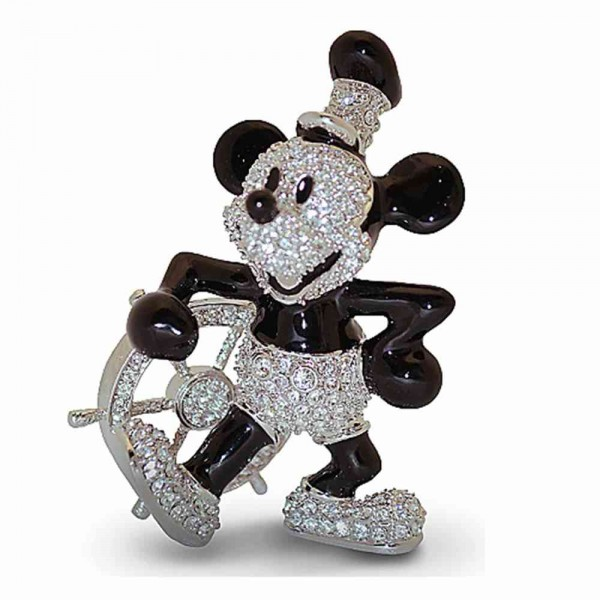 Crystallized Swarovski Willie Steamboat figure, Arribas Glass Collection
