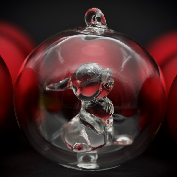Disney Thumper Christmas bauble, Arribas Glass Collection
