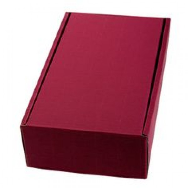 2 Bottle Fluted Gift Carton Front Opening – Burgundy