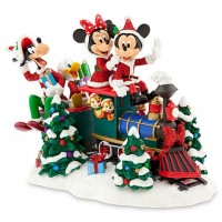 Disney Mickey Mouse and Friends on Train Figurine, Disneyland Paris