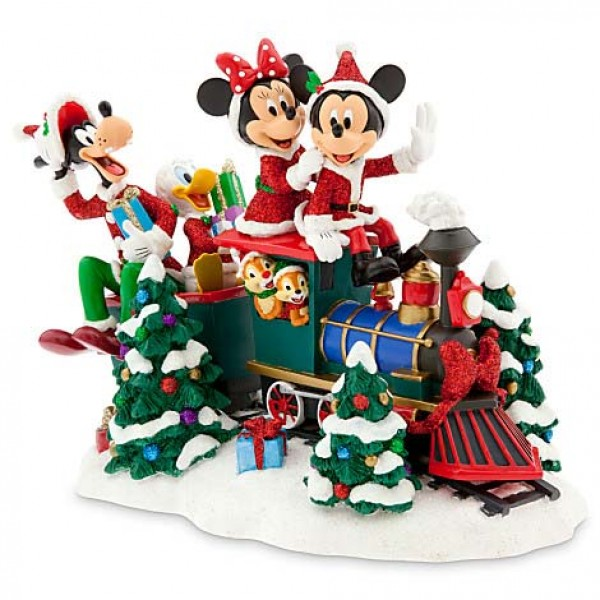 Mickey Mouse Santa & Friends on Train Figurine